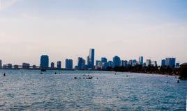 Miami-Skyline hoch Lizenzfreie Stockfotografie