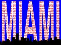 Miami skyline illustration Stock Image