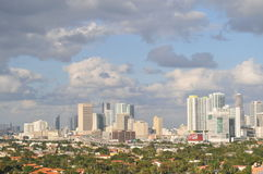 Miami-Skyline im Stadtzentrum gelegen Stockfotografie