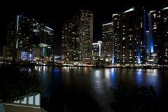 Miami Skyline Night royalty free stock image