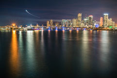 Miami Skyline by Night Stock Image