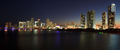 Miami Skyline Panorama Royalty Free Stock Photo