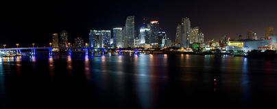 Miami Skyline Panorama Royalty Free Stock Photography