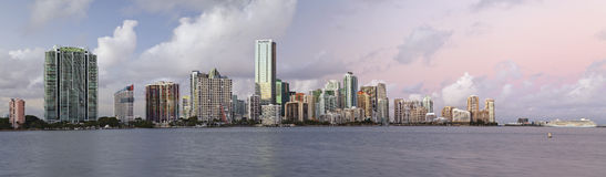 Miami Skyline Panorama. Royalty Free Stock Image