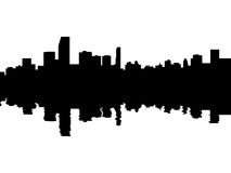 Free Miami Skyline Reflected Stock Photos - 9949453