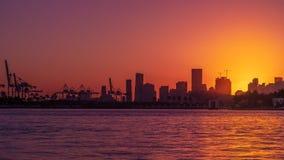 miami skyline słońca obrazy royalty free