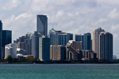 Miami skyline on a sunny day Royalty Free Stock Photography