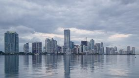 Miami Skyline Time Lapse Royalty Free Stock Image