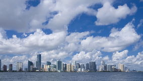 Miami skyline stock video footage