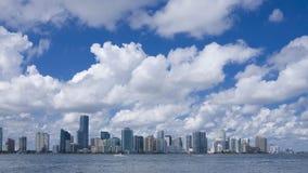 Miami skyline stock video footage
