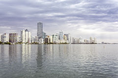 Miami skyline view  from Biscayne Bay Royalty Free Stock Photo