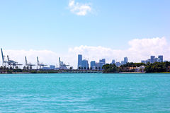 Miami skyline from waterfront. Stock Photos