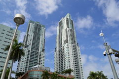 Miami Skyscrapper Royalty Free Stock Photography