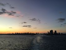 Miami solnedgånghorisont Fotografering för Bildbyråer