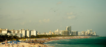 Miami, South Beach. With hotels and coastline Royalty Free Stock Photos