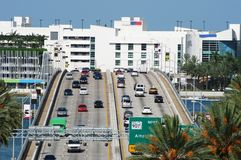 Miami South Beach Bridge Stock Images