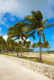 Miami south Beach entrance Florida US Royalty Free Stock Image