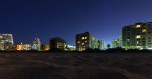 Miami South Beach Florida at night Stock Image