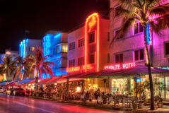 Miami South Beach Hotels Royalty Free Stock Image
