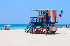 Miami South Beach Lifeguard Stand Stock Photos