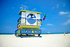 Miami South Beach Lifeguard Stand Royalty Free Stock Photos