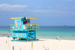 Miami South Beach Lifeguard Stand Stock Photography