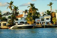 Miami south beach luxurious house royalty free stock photo