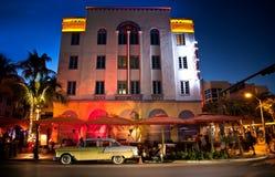 Miami South Beach at night Stock Image