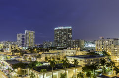 Miami south beach night street view Royalty Free Stock Images
