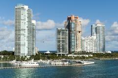 Miami South Beach Skyline Stock Photos