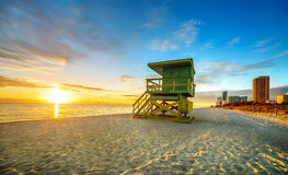 Miami South Beach sunrise Stock Photos