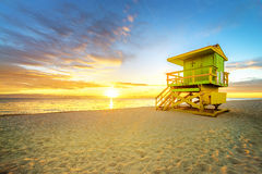 Miami South Beach sunrise Royalty Free Stock Images