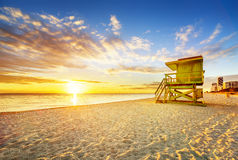 Miami South Beach sunrise Royalty Free Stock Photo