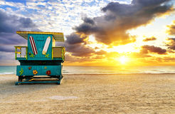 Miami South Beach sunrise Stock Image
