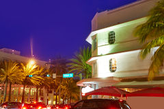 Miami South Beach sunset Ocean Drive Florida Stock Photography