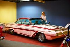 Miami ställer ut det auto museet en samling av tappning- och bioau Arkivbilder