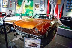 Miami ställer ut det auto museet en samling av tappning- och bioau Royaltyfria Foton