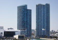 Miami-Stadion, Hotels und Wohnungen stockfoto