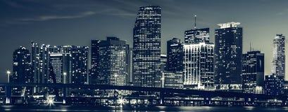 Miami stadshorisont Royaltyfria Bilder