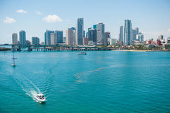 Miami-Stadt-Skyline Stockbild