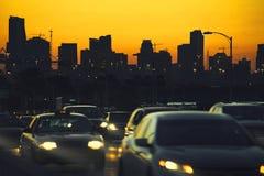 Miami-Stadtverkehr Stockbild