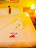 Miami, Stati Uniti d'America - 8 gennaio 2014: La crociera del carnevale Glory Cruise Ship Fotografie Stock Libere da Diritti
