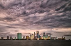 Miami Storm Clouds Royalty Free Stock Images