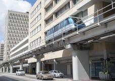 Miami-Straße und -einschienenbahn stockfotos