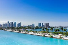 Miami, strada soprelevata di MacArthur, U.S.A., Florida Fotografie Stock