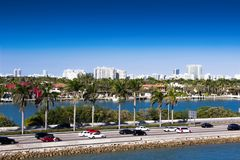 Miami, strada soprelevata di MacArthur, U.S.A., Florida Fotografia Stock