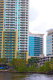 Miami suburb on the canal waterfront. Royalty Free Stock Photos