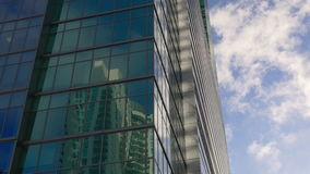 Miami summer day down town building reflection sky 4k usa stock footage