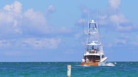 Miami summer day yacht going ocean 4k florida usa