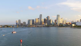 Miami summer sunset downtown gulf panorama 4k usa. Usa miami summer sunset downtown gulf panorama 4k stock video footage